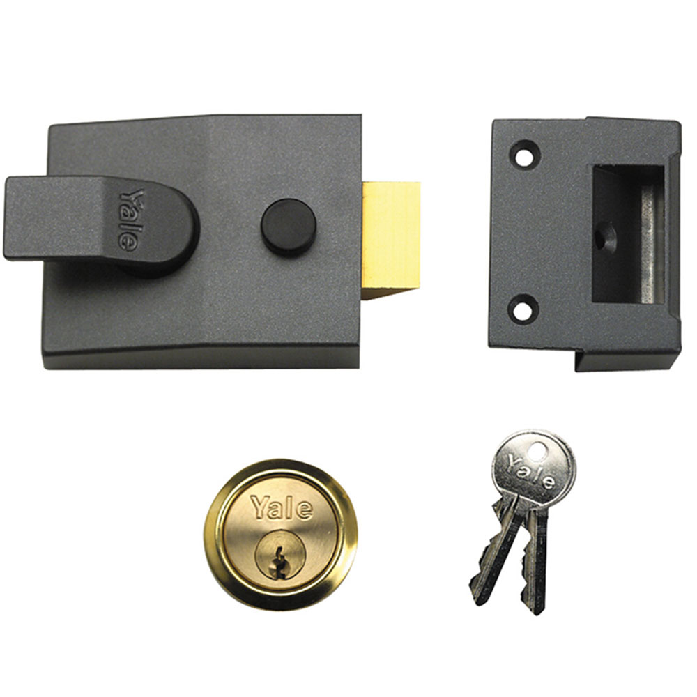 Yale P89 Deadlock Nightlatch Dmg Brass Cylinder 60mm