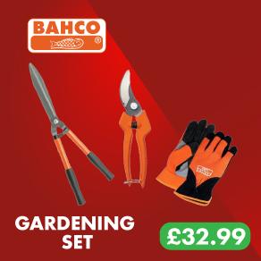 Bahco Hedge & Secateur Gardening Set + FREE Gloves!