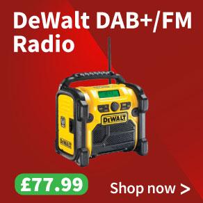 DeWalt DCR020 DAB+ / FM Digital Radio - Bare Unit