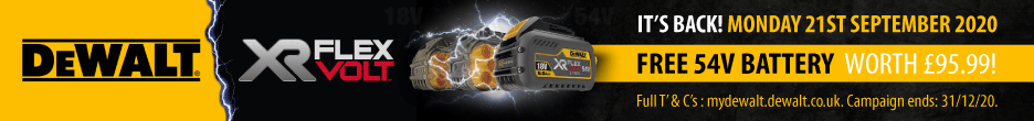 DeWalt FlexVolt Battery Redemption Offer