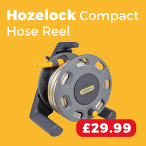 Hozelock 2412 Hose (25m) & Compact Reel 30m