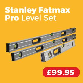 Stanley Fatmax Pro 3-Vial Box Beam Level Set 3pc
